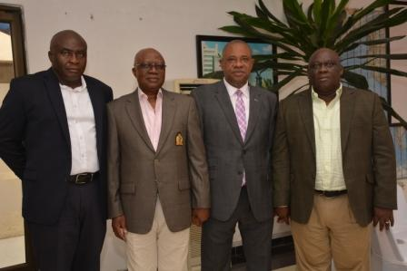 Pic. 1, L-R Vice President, Outdoor Advertising Association of Nigeria (OAAN), Mr Emmanuel Ajufo_ former President, Mr Kole Ademulegun_ MDCEO, LASAA, Mr Mobolaji Sanusi and President, OAAN, Mr Tunde Adedoyin durin