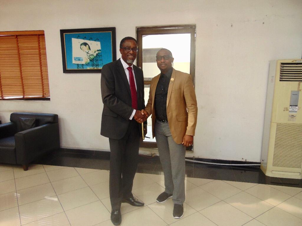 February 5, 2020: Mr. Tade  Adekunle, President of the Experiential Marketers Association of Nigeria (EXMAN) during a courtesy visit paid the Managing Director, Lagos State Signage and Advertisement Agency (LASAA), Prince Adedamola Docemo