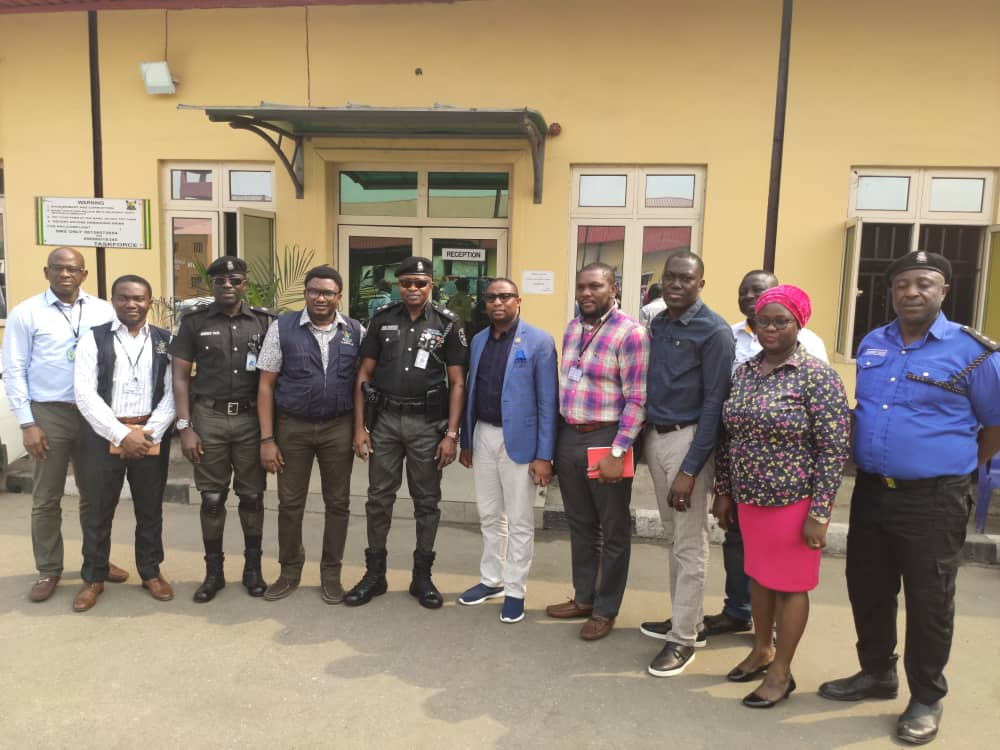 January 30, 2020:  Prince Adedamola Docemo and management team visit to the Lagos State Taskforce.