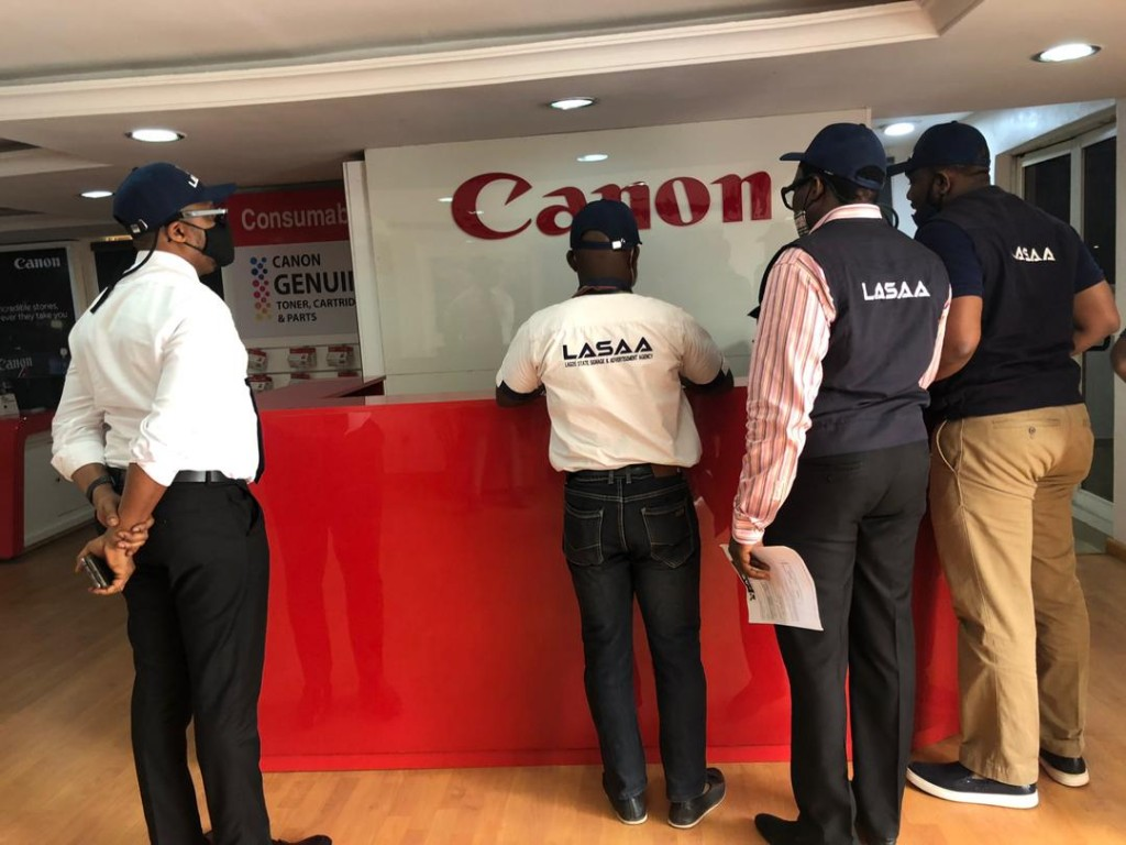 July 28, 2020: Special Revenue Optimization Team led by LASAA MD, Prince Adedamola Docemo to Ikeja Axis, at Canon Office.