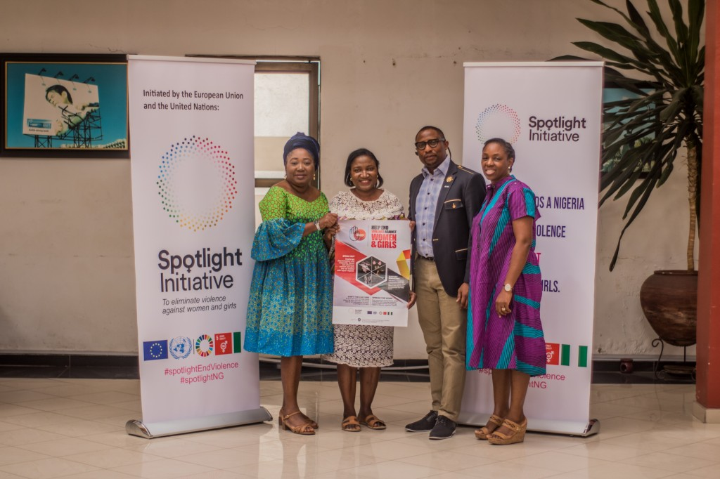 February 12, 2020: Prince Adedamola Docemo with the leadership of the Spotlight Initiative after their presentation to the Agency